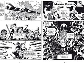 """Zwei Seiten aus """"Die besten Feinde, Zweiter Teil"""": der Sechstagekrieg (l.) und die iranische Revolution."""