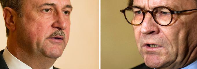 Claus Weselsky und Ulrich Weber schenken sich bei den Tarifverhandlungen nichts.