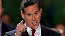 Wird wohl wieder am starken Mitbewerber scheitern: Rick Santorum.