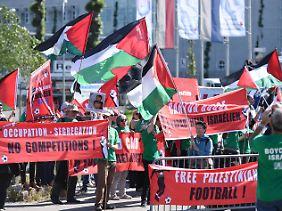 Palästinenser-Demo vor dem Kongress.