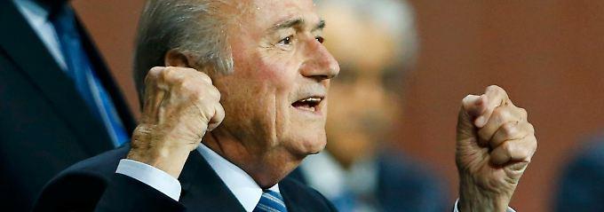 Joseph Blatter, siegreich