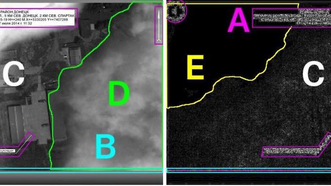 Die farbige Linie im Bereich B soll zeigen, dass das Foto unten mit einem Streifen überdeckt wurde. Kaffeesatzleserei, sagt Experte Jens Kriese.