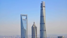 Zweithöchstes Gebäude der Welt: Arbeiten am Shanghai Tower stehen kurz vor Abschluss