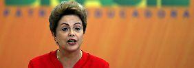 Milliardenschwere Ankündigungen im Planalto-Palast in der Hauptstadt Brasilia: Dilma Rousseff verspricht Großes.