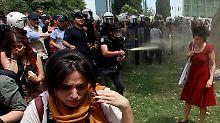 Tränengas-Attacke bei Gezi-Protest: Polizist muss 600 Bäume pflanzen