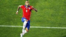 Der Jubel nach dem ersten Tor: Chiles Arturo Vidal.