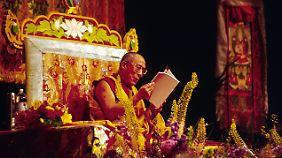 Der Dalai Lama Tenzin Gyatso bekam 1989 den Friedensnobelpreis verliehen.