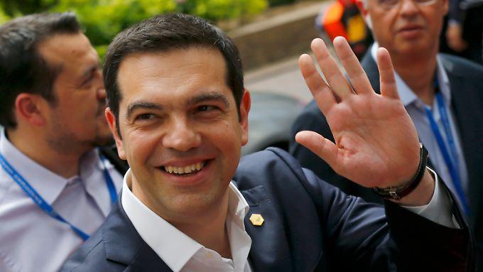 Griechenlands Ministerpräsident Tsipras vor dem Gipfel der Staats- und Regierungschefs in Brüssel.