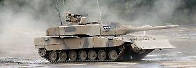 Ein Kampfpanzer Leopard 2 A7+ der Firma Krauss-Maffei Wegmann.