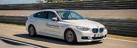 Im BMW 5er GT, der als Versuchsträger des Wasserstoffantriebs dient, leistet der Elektromotor 245 PS.