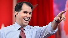Umstrittener Gouverneur bewirbt sich: Republikaner Walker will US-Präsident werden