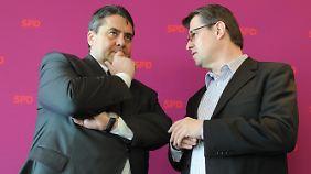 SPD-Chef Sigmar Gabriel und sein Vize Ralf Stegner
