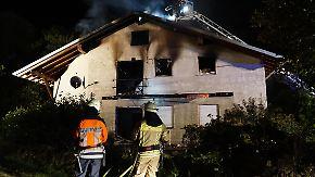 Brand eines Flüchtlingsheims in Baden Württemberg im vergangenen Tag.