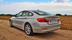 Auch von hinten ist das 4er Gran Coupé ein echter BMW. Das heißt ein echter Sportler.