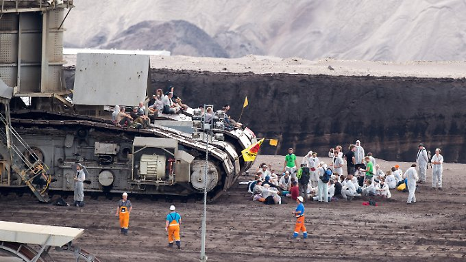 Im Tagebau Garzweiler geht vorübergehend nichts mehr.