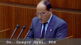 Gysi bedauerte in der Volkskammersitzung am Morgen des 23. August das Ende der DDR.