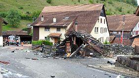 Absturzstelle in Dittingen südlich von Basel.