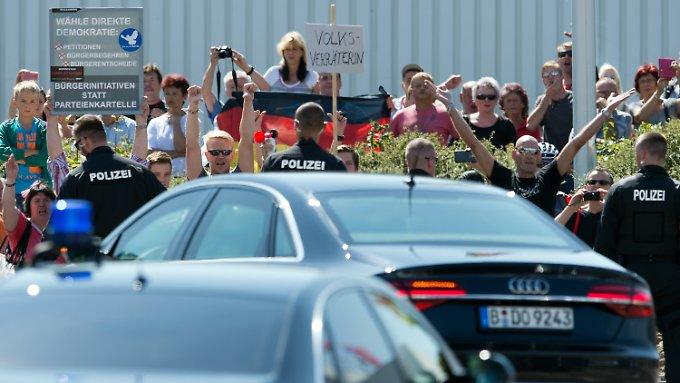 Merkel schlug massiver Hass in Heidenau entgegen.