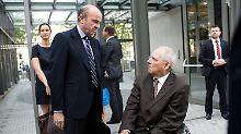 Wolfgang Schäuble mit Luis de Guindos
