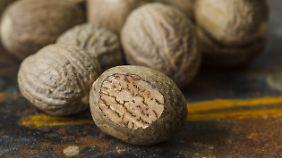 Muskatnüsse werden hauptsächlich aus Grenada exportiert.