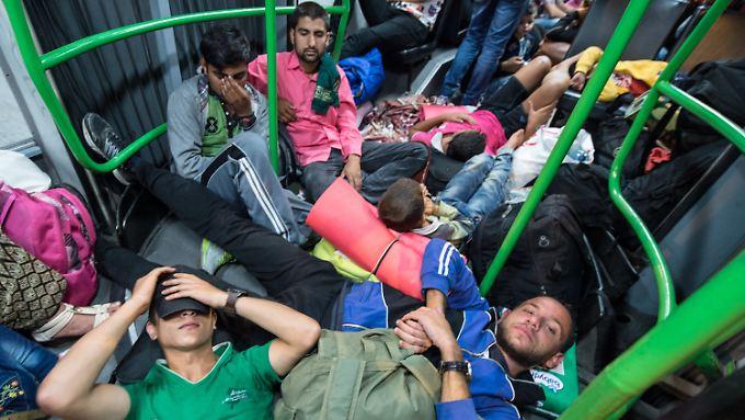 EU sucht gemeinsamen Nenner: Ungarn bringt Flüchtlinge mit Bussen nach Österreich