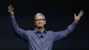 Bilder vom Apple-Event: Tim Cook lockt die Technikfans nach San Francisco