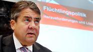 """... was sich hier rumgetrieben hat."""" Vizekanzler Sigmar Gabriel, SPD, zu den rechten Krawallen vor der Flüchtlingsunterkunft in Heidenau, 24. August"""