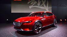 Der Koeru zeigt die nächste Stufe des Crossover-Designs bei Mazda und könnte einen Ausblick auf ein kommendes Modell zwischen dem Mini-SUV CX-3 und dem Kompaktmodell CX-5 geben.