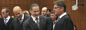 Der mutmaßliche Anlagebetrüger Stephan S. vor dem Frankfurter Landgericht.