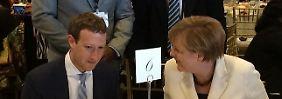 Mark Zuckerberg und Kanzlerin Angela Merkel beim UN-Gipfel in New York.