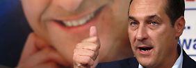 Heinz-Christian Strache ist mit seiner FPÖ weiter im Aufwind.