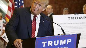 Trump begegnet mit seinem Steuerplan dem Vorwurf, seine Kampagne wäre inhaltsleer.