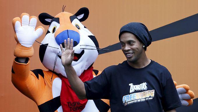 Kein Glück bei Fluminense FC: Ronaldinho (r.).