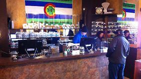 Geschäfte wie das Cannabis Centre in Denver bekommen in der Regel kein Geschäftskonto.