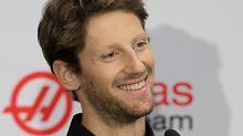 Romain Grosjean wird auf einer Pressekonferenz in Kannapolis offiziell vorgestellt.