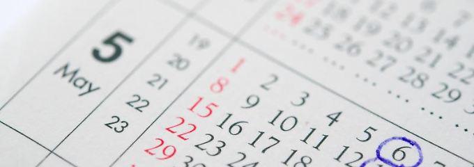 Der 6. und 13. Mai bieten sich 2016 gut als Brückentage an. Dank Christi Himmelfahrt und Pfingstmontag reicht ein Urlaubstag für vier Tage frei.