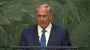 Schweigend vor der UN: Benjamin Netanjahu setzt Zeichen gegen Iran-Deal