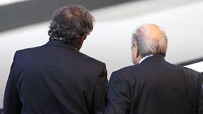 """""""Bitte hör auf zu lügen"""": Blatter und Platini gehen unter"""