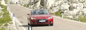 Video: Schafft's das Tesla Model S über die Alpen?