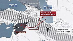 Putins Syrien-Engagement: Russische Raketen alarmieren Airlines