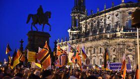 Theaterplatz in Dresden: Eigentlich ein wunderschönes Stückchen Elb-Stadt.
