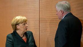 Verhärtete Fronten: Merkel und Seehofer treffen sich zum Vier-Augen-Gespräch
