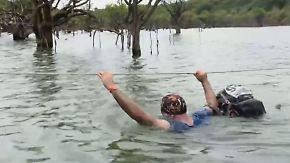 Marathon voller Gefahren: Extremsportler kämpfen sich durch Brasiliens Dschungel