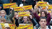 """Die """"Stuttgart 21""""-Proteste halten monatelang an."""