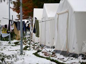 Flüchtlingsheim in Sachsen.