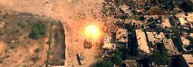 Verstörende Vogelperspektive: Drohnen filmen den Syrien-Krieg aus der Luft