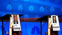 Vor der dritten Debatte erhalten Trumps Ambitionen einen Dämpfer.