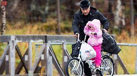 Fahrradflüchtlinge: Syrer radeln nach Norwegen