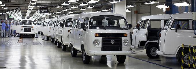 VW-Produktion in  São Bernardo do Campo in der Region São Paulo.