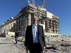 Besuch auf der griechischen Baustelle: Pierre Moscovici.